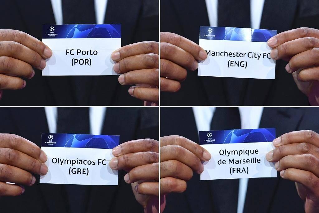 Le tirage au sort du groupe C de la Ligue des champions 2020-2021