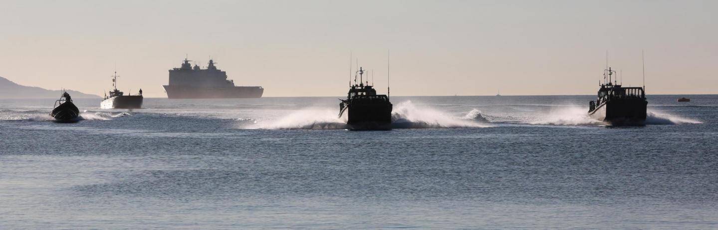 Il était 9h15 jeudi matin quand les troupes de l'Otan engagées dans l'exercice Dynamic Mariner 20 ont fondu sur la plage militaire de Port Pothuau à Hyères.