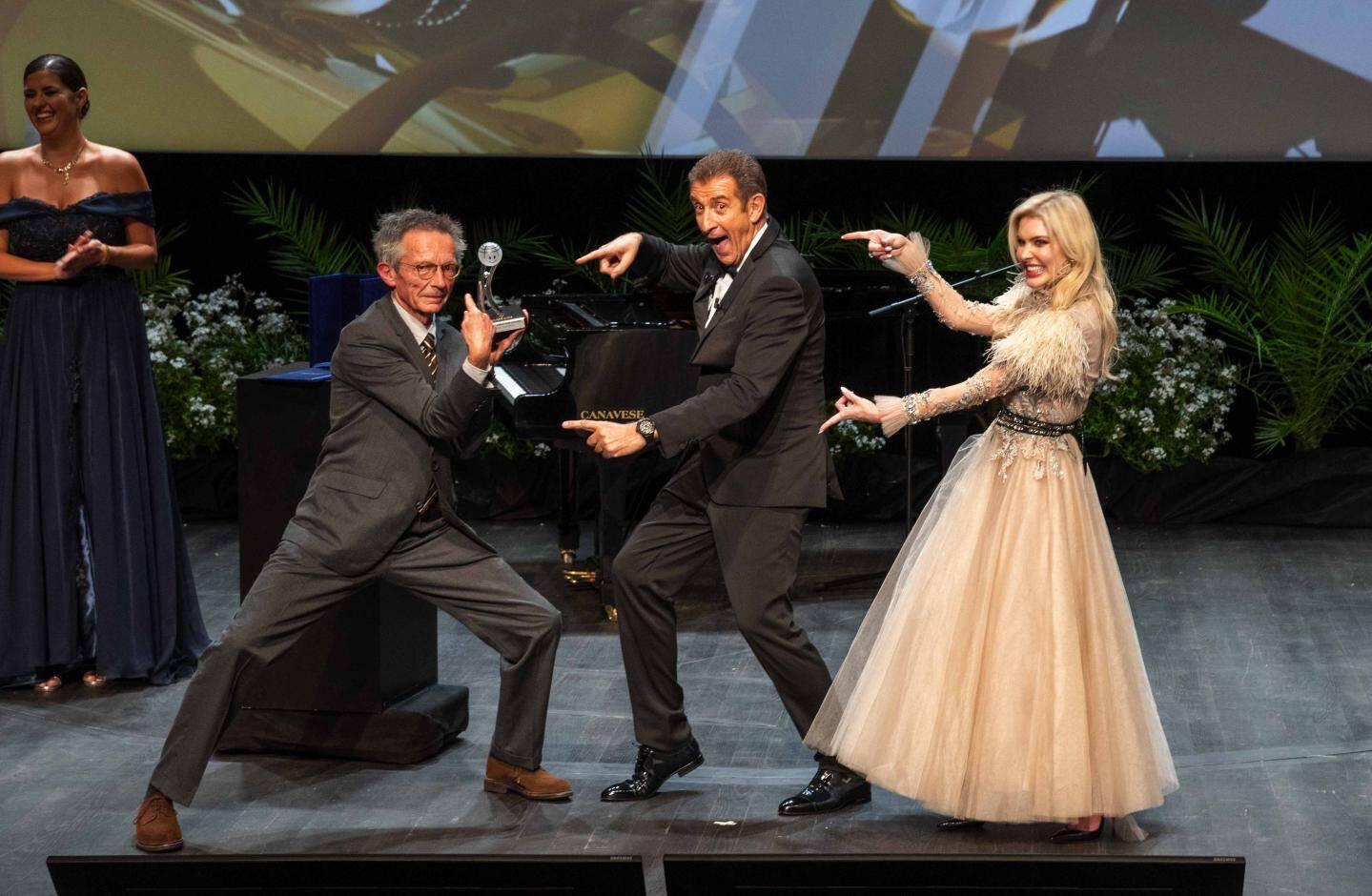 Patrice Leconte a reçu un Prix pour l'ensemble de sa carrière, samedi soir, dans la salle des Princes du Grimaldi Forum.