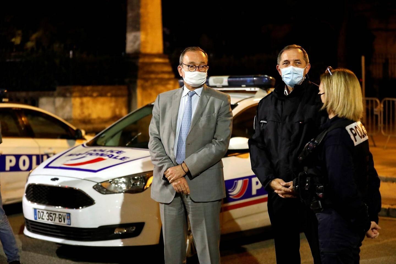 Evence Richard, préfet du Var, et Jean-Michel Porez, directeur départemental de la sécurité publique.