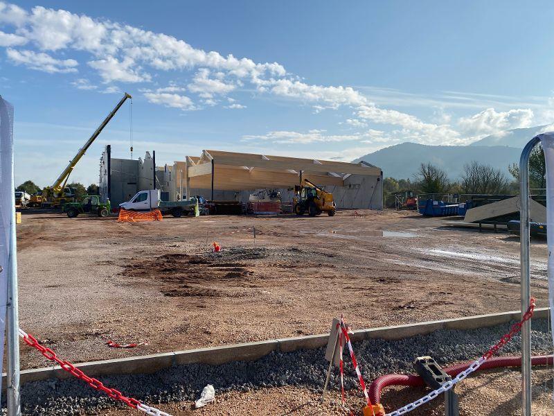 La construction du Lidl avance à grands pas.