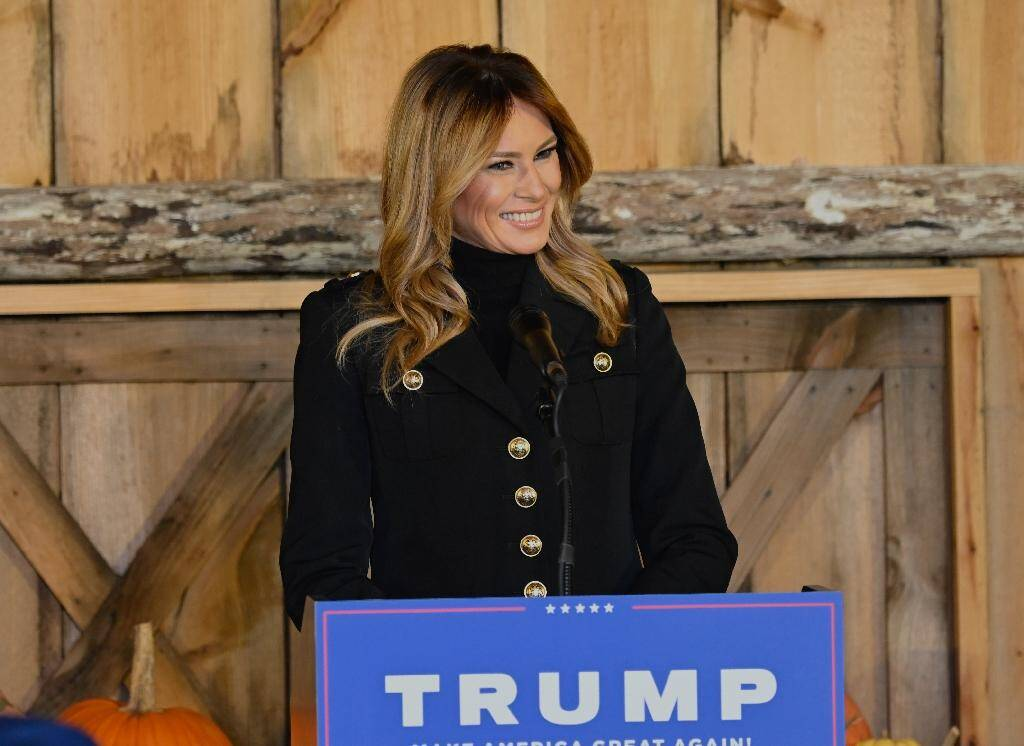 La Première dame des Etats-Unis, Melania Trump, a fait campagne de son côté samedi dans le Wisconsin