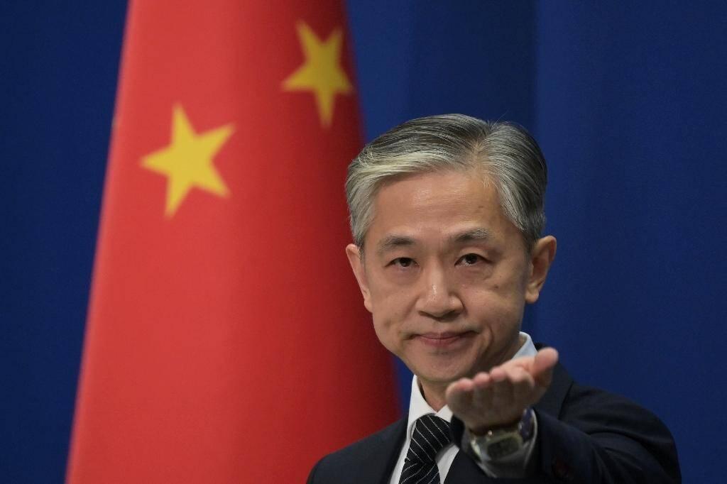 Le porte-parole de la diplomatie chinoise Wang Wenbin, lors d'une conférence de presse à Pékin, le 9 novembre 2020