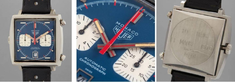 Offerte à son mécanicien après le tournage, la montre porte la mention «To Haig Le Mans 1970».