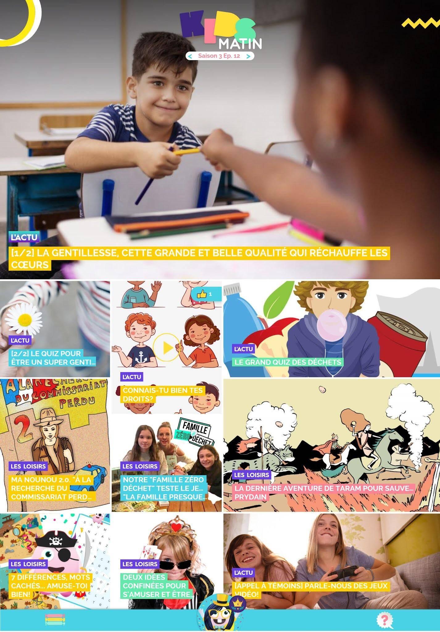 Au sommaire de kidsmatin.com ce mercredi 18 novembre.