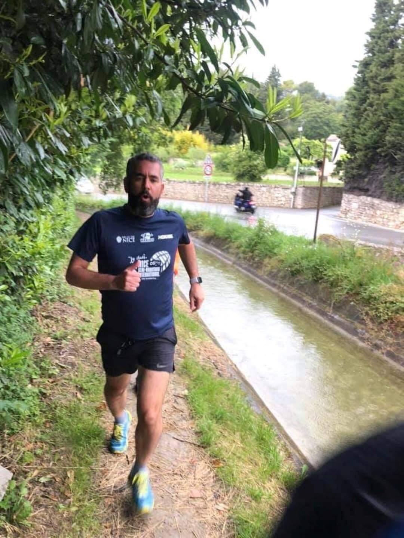 Benoit lors d'une de ses sorties sur le canal de Siagne.