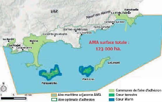 Aire maritime adjacente du Parc National de Port-Cros