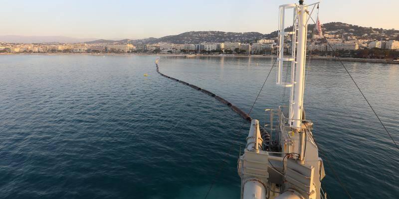 VIDEO. Les impressionnantes images de l'opération de réensablement des plages à Cannes