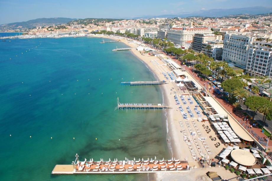Une vue de la Croisette, à Cannes.