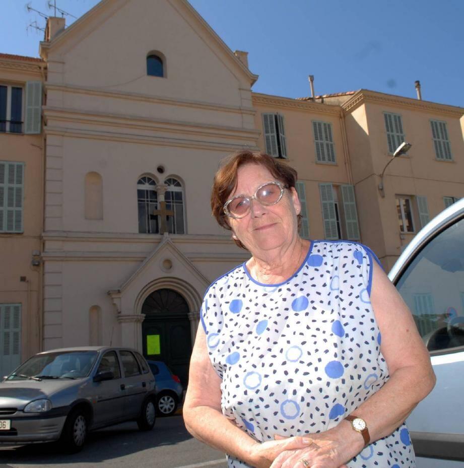 Germaine Pena ne décolère pas : « Les Suquettans sont très attachés à la chapelle Saint-Roch qui risque d'être détruite. »