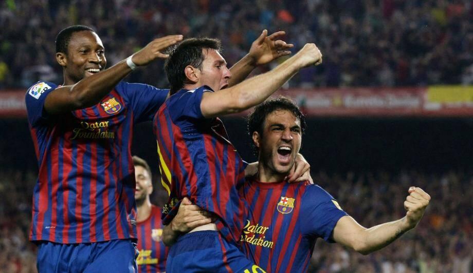Abidal, Messi et Fabregas prêts à enchanter le Louis-II ce soir face à Porto. (Photo Reuters)