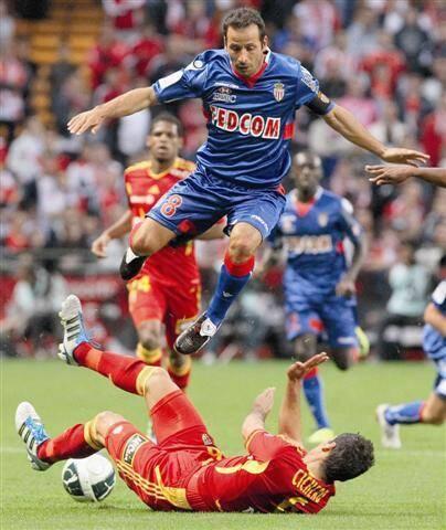 Ludovic Giuly a sauvé le point du match nul pour les Monégasques en égalisant dans les derniers instants de la partie.