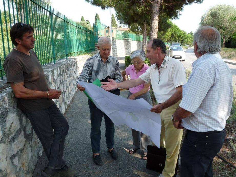 Les riverains du vallon du Tortéo (ou vallon de Gairaut) veulent trouver des solutions pour éviter les inondations.(Photo Ga. B.)