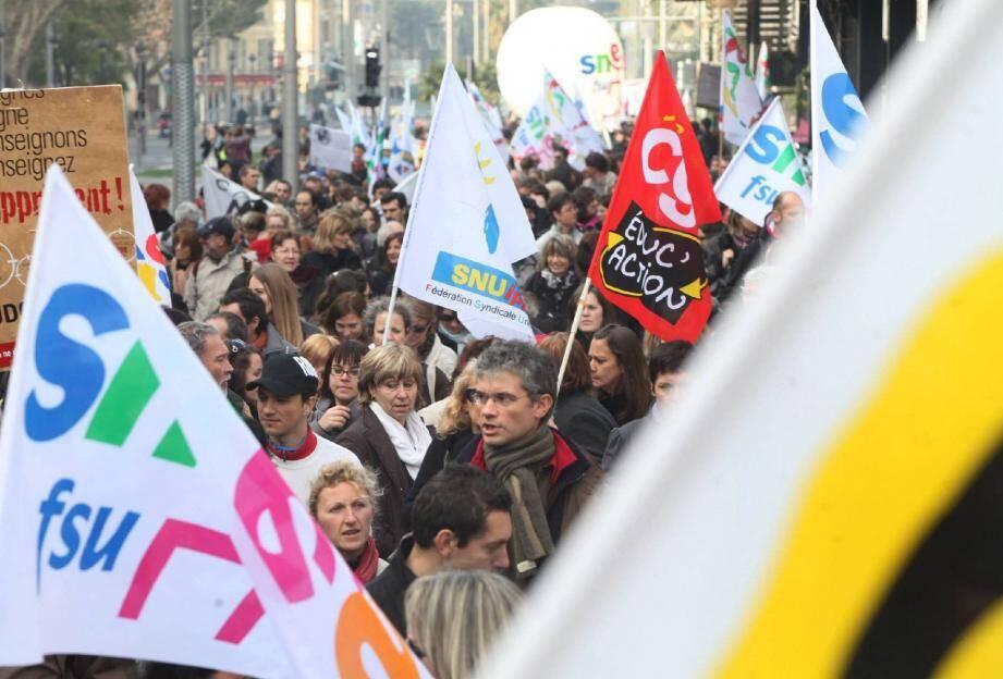 Salaires, manque de moyens, classes chargées... les sujets de mécontentement seront nombreux lors de la manifestation des enseignants prévue demain matin, à Nice. (Photo Doc. Richard Ray)
