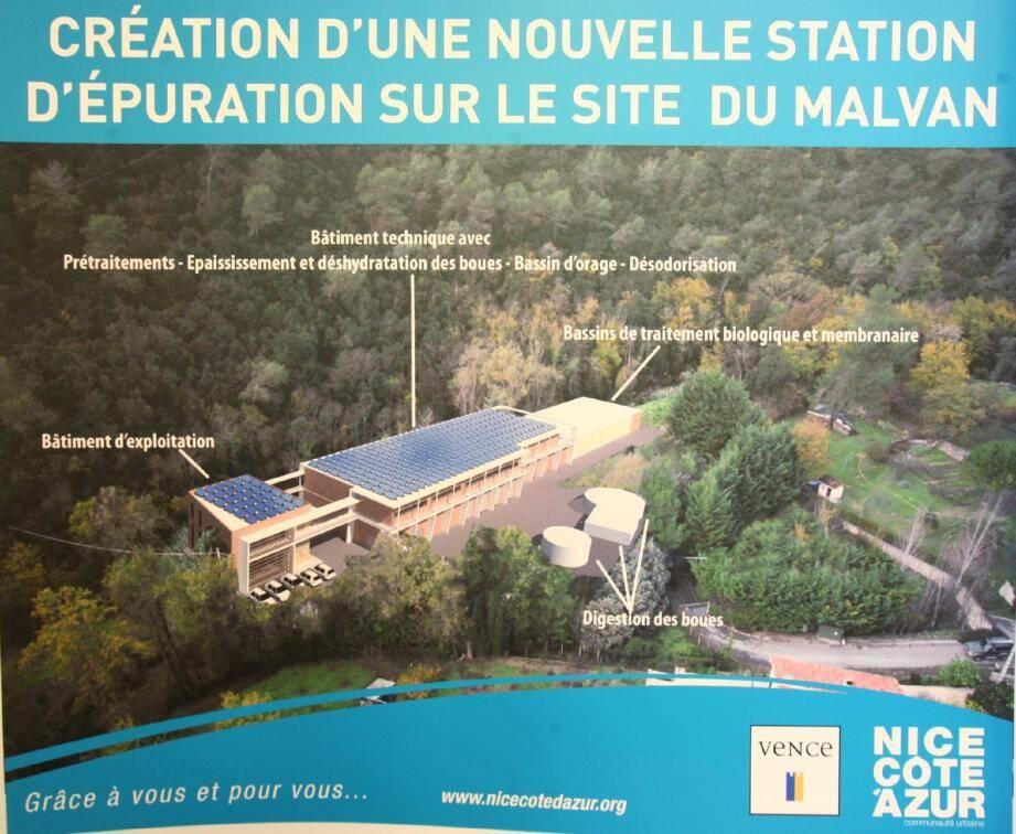 En février dernier, la future station d'épuration du Malvan avait été officiellement présentée en mairie. Elle le sera bientôt aux riverains.(Repro archives DR)