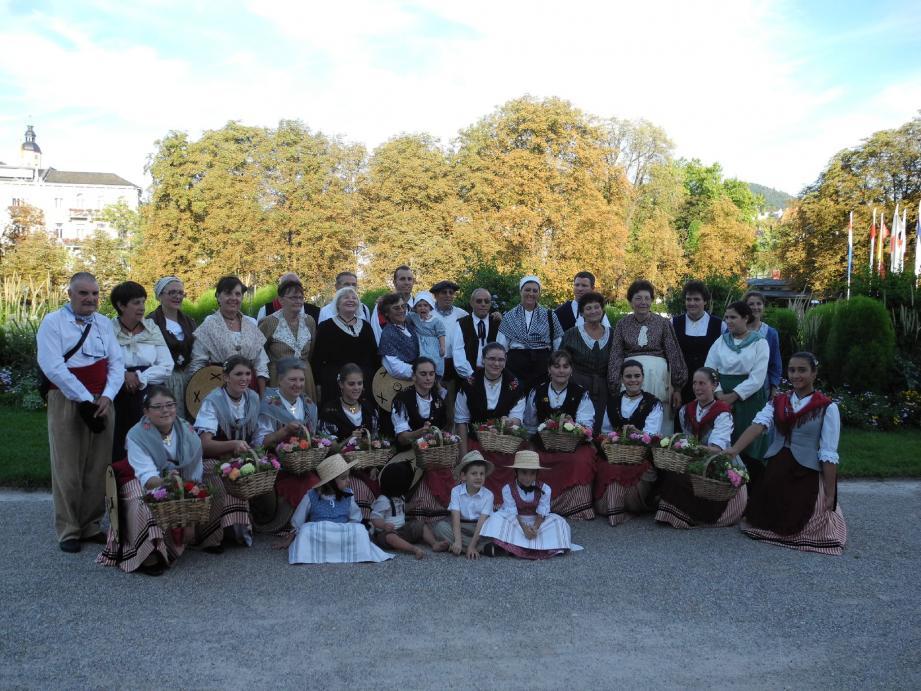 Le groupe folklorique a passé un superbe week-end à Baden Baden. (Photo DR)