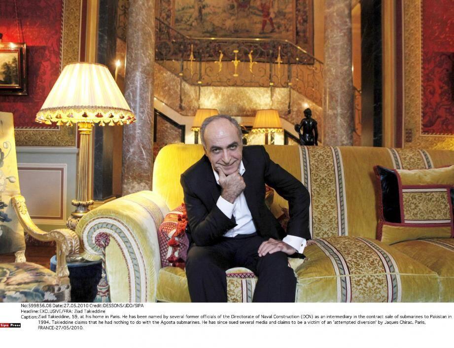230 millions d'euros de commissions occultes auraient transité par Ziad Takieddine.(Photo SIPA)