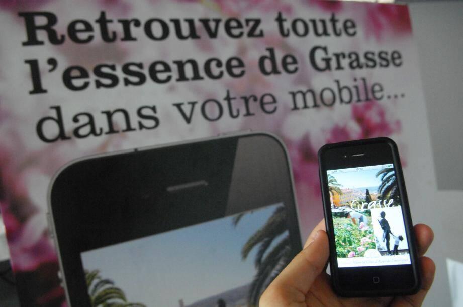 L'application « Grasse » est d'ores et déjà disponible sur Iphone et sur les téléphones de type Androïd, soit près de 70 des smartphones. Pour les possesseurs de Blackberry , le service est consultable directement par internet.(Photo X.G.)