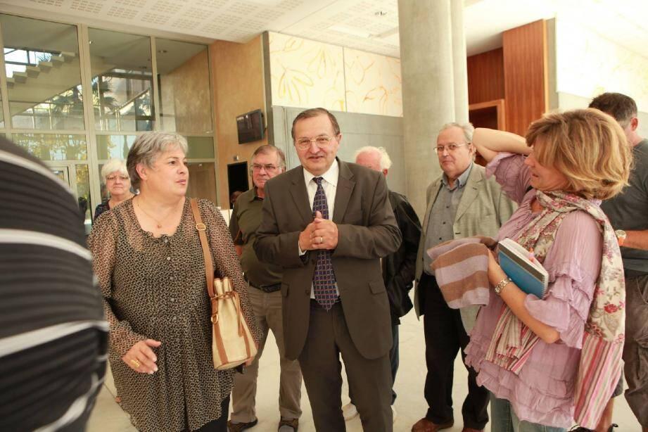 Gérard Piel a la sortie de l'audience, hier matin, au tribunal de grande instance de Grasse. (Photo Patrick Clementé)