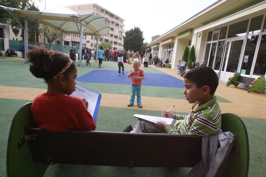 Finis dans les temps, les travaux de restructuration de l'école maternelle Metz (désormais Ange-Marie Miniconi) ont coûté plus de deux millions d'euros à la municipalité cannoise.(Photo A. B.-J.)