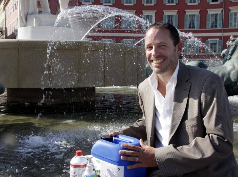 Édouard Joulia, un nouvel « alchimiste » dans l'économie verte azuréenne.(Photo Grégoire Albertini)
