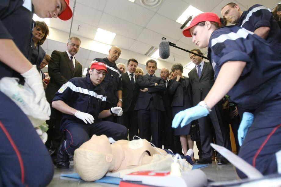 Des élèves de terminale, section « Sécurité et prévention », ont fait une démonstration de secourisme.
