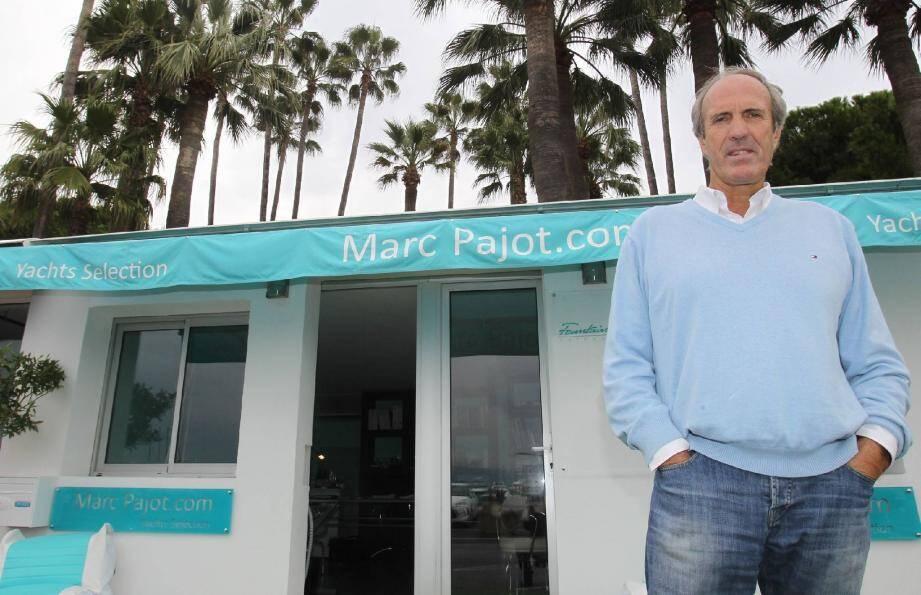 Marc Pajot retrouve Cannes où il a participé à de nombreuses régates, en tant que broker au Port Canto où il dit bénéficier « d'une situation privilégiée dans un site dynamique en plein développement ».(Photo Serge Haouzi)