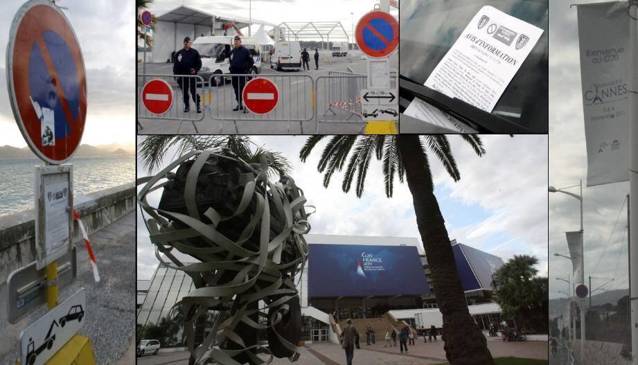 En ville, le G20 est partout, sous toutes les formes. Sécurité, information, communication... Les Cannois sont cernés par le sommet.(Photos A.B-J. et V.B.)