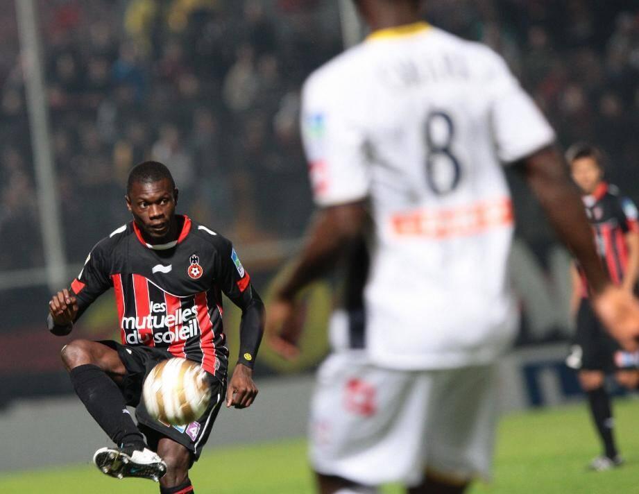 Drissa Diakité en est à sa septième saison sous le maillot niçois. Personne ne fait mieux. (Photo F. Vignola)