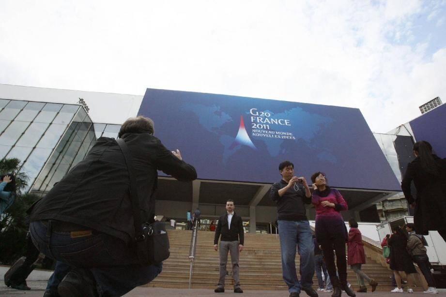 Après Séoul, c'est au palais des festivals de Cannes que se déroule cette édition du G20.(Photo A.B.J.)