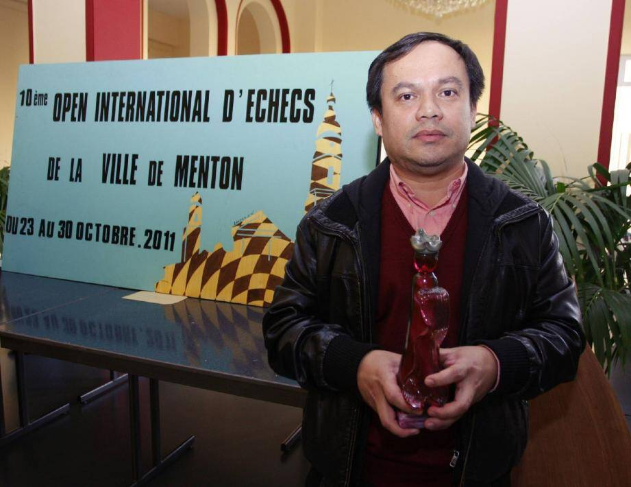 Joseph Sanchez est le vainqueur de l'Open international d'échecs 2011.(Photo O.O.)