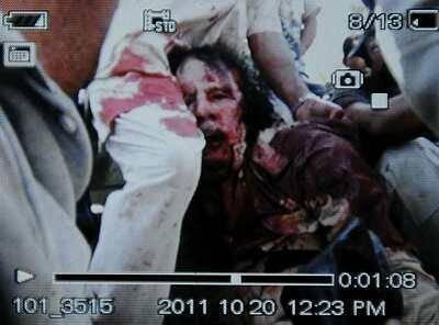 Photo présumée de Mouammar Kadhafi diffusée par l'AFP