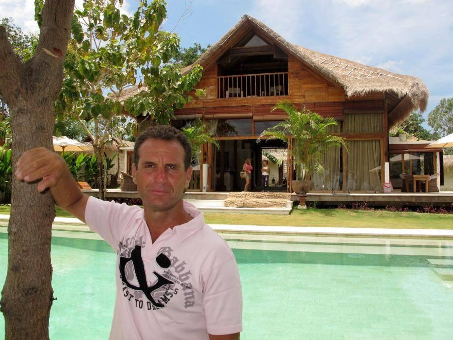 Le succès de son resort « la Joya » a donné des ailes à Eric Kaddouri. Il s'attaque désormais à la construction d'un autre hôtel, toujours au sud de l'île. Mieux, il a d'ores et déjà acheté deux autres terrains.(Photos Patrice Lapoirie)