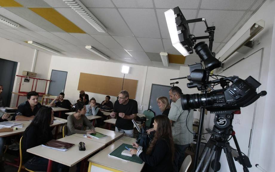 Un maximum de lycéens ont participé au tournage en tant qu'acteurs, figurants et organisateurs.(Photo Frantz Bouton)