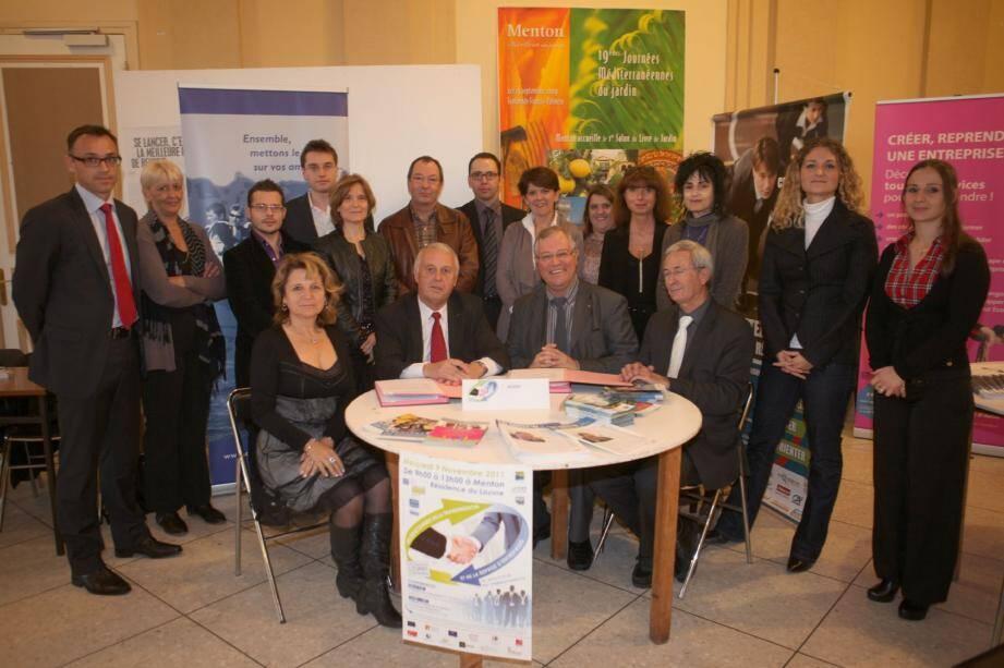 Durant le salon de la transmission, une convention a été signée entre l'Aderf et l'UPE 06 pour renforcer l'aide aux entreprises de la région. (Photos Eric Dulière)