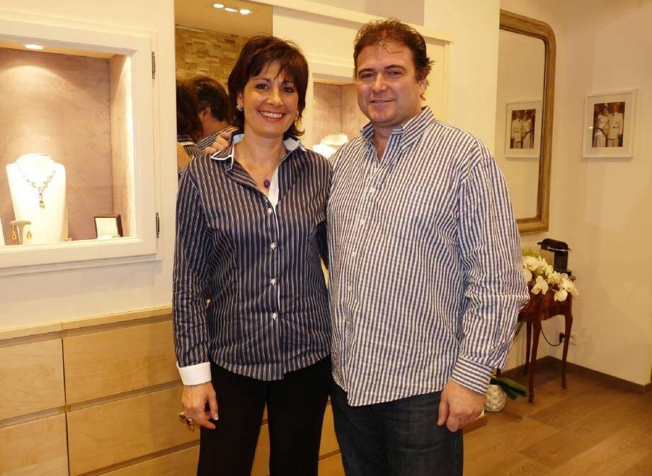 Cécile et Jean-Charles Pellegrino ont ouvert leur boutique boulevard Princesse Charlotte il y a un mois.