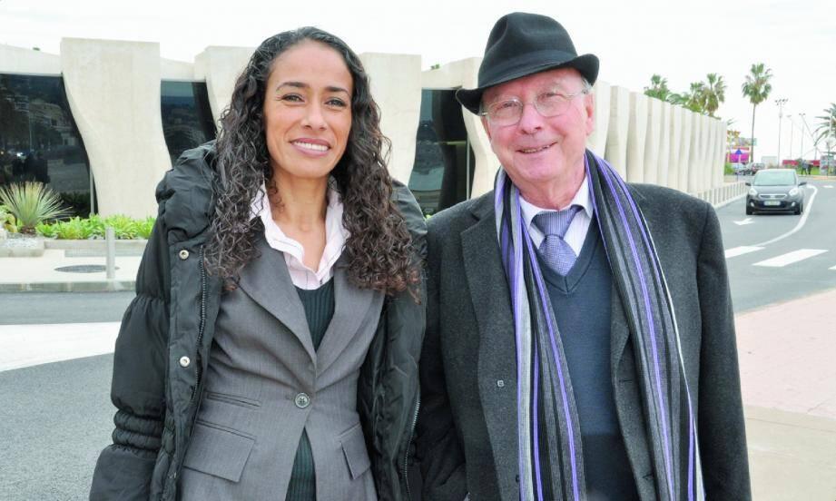 Fathia Merfoud, qui anime « Agora vous écoute », et Gilbert Andruccioli, président d'Agora FM, voudraient faire vivre à Menton leur devise : « La liberté a sa radio ».