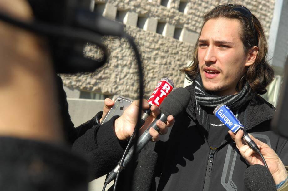 Gabriel Iacono : « Je m'installerai en journée devant le palais de justice de Grasse et ne m'alimenterai plus » .