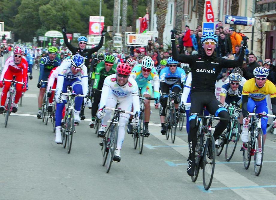 Une arrivée massive au sprint est inévitable cet après-midi à La Croix-Valmer. Et si Michel Kreder (ci-dessus) , double vainqueur sur le Tour Med, n'est pas là, ça risque de frotter sur le final.