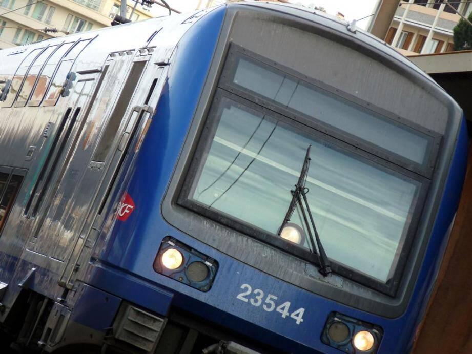 En raison d'un mouvement social local, la circulation des TER sera perturbée dans les Alpes-Maritimes