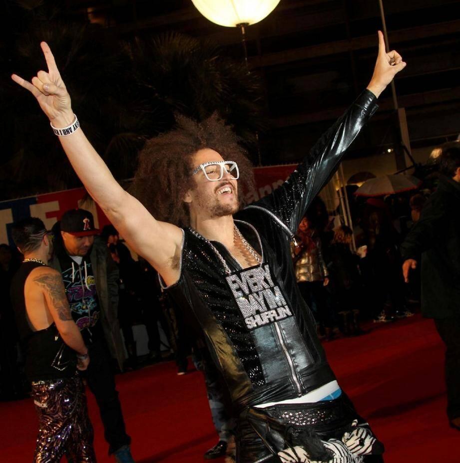Avant Six-Fours et après Saint-Tropez, Red Foo des LMFAO avait transporté sa bonne humeur communicative jusqu'à Cannes, fin janvier, pour assurer le show lors de NRJ Music Awards.