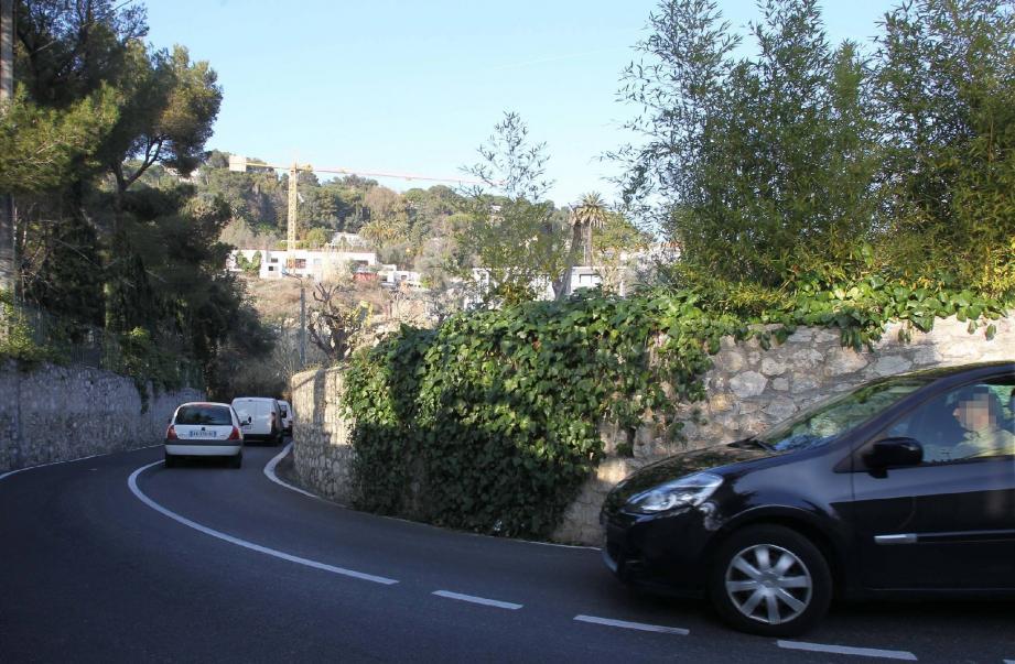 Plus de 8 000 véhicules empruntent par jour, cette avenue, qui relie Cannes à Vallauris par le col de Saint-Antoine. Mais la circulation y est parfois ardue.