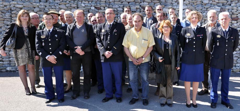 Le capitaine Benoît Tonanny s'est réjoui de la présence des maires, ou de leurs représentants, des villages de la communauté de communes des Vallées d'Azur, territoire couvert par les brigades de Puget-Théniers et Villars-sur-Var.
