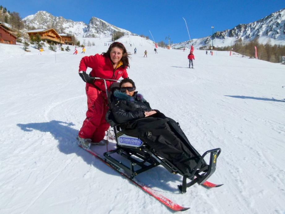 Jeanine ravie d'avoir découvert le nouveau (pour elle) domaine skiable.