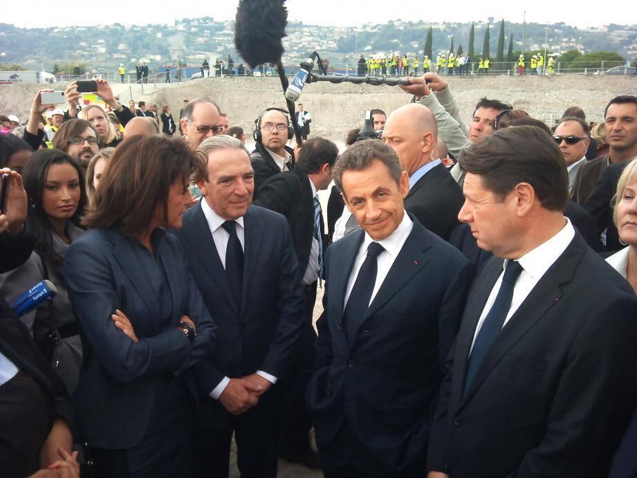 Nicolas Sarkozy lors de sa dernière visite à Nice le 18 octobre 2011