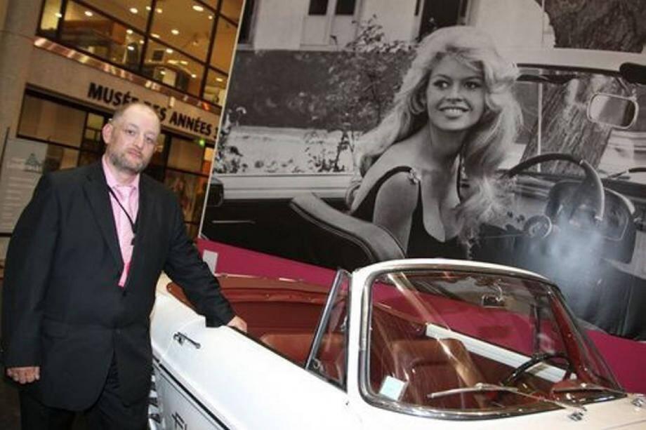 Bruno Ricard, heureux d'être le principal contributeur de l'expo Bardot. Aujourd'hui, il déchante…