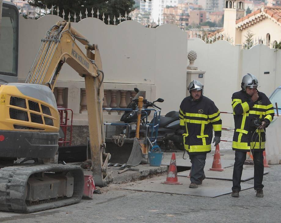 Mineure, la fuite de gaz a mobilisé les sapeurs pompiers monégasques pendant une heure.