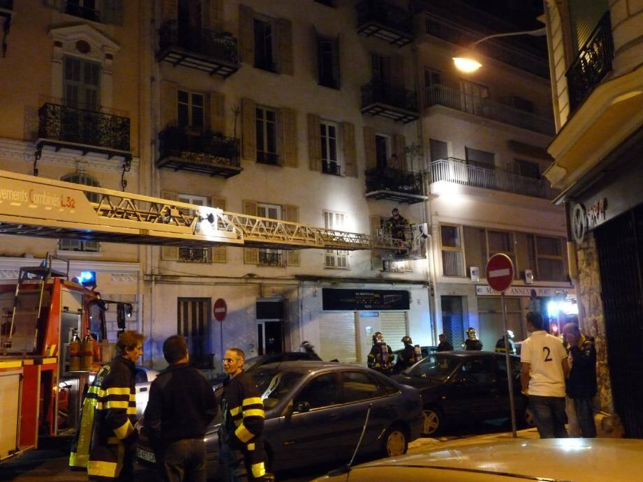 Un gros dispositif a été déployé, hier soir, rue Ribotti.