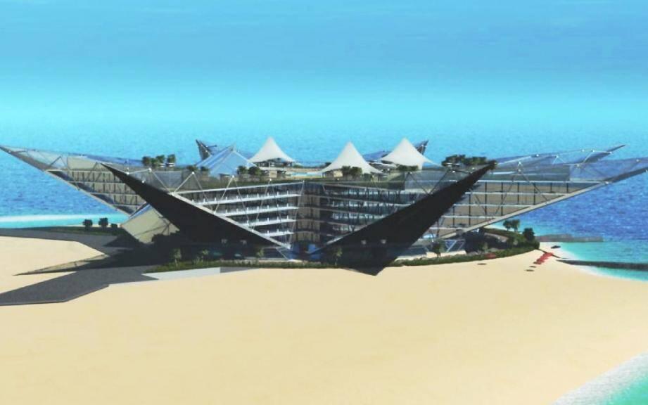 Voici the « Golden star », le projet présenté par le représentant d'une société saoudienne, Samuel Julian