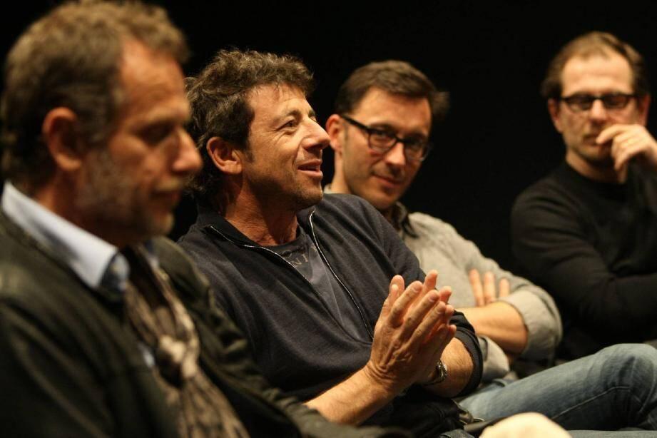 Patrick Bruel en personne, ravi d'évoquer la pièce et le film aux côtés de Charles Berling et des deux réalisateurs, Matthieu Delaporte et Alexandre de La Patellière.